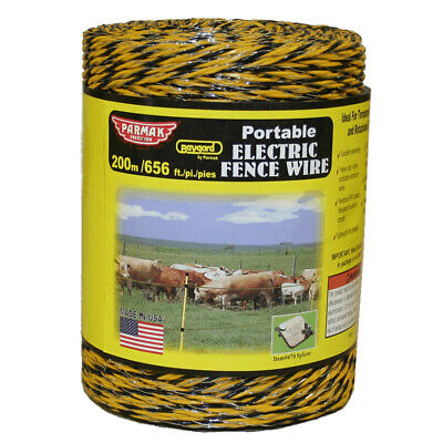 200m Yellow Electric Fence Wire