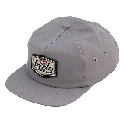 6b25947f9927a Independent Trucks INDY PATCH 5 PANEL UNSTRUCTURED Snapback Hat GREY  KIDS  FIT