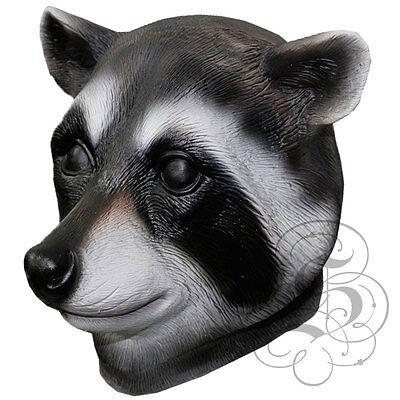 Woodland Animal Costumes (Latex Full Head Animal Cosplay Woodland Raccoon Fancy Dress Carnival Party Mask)