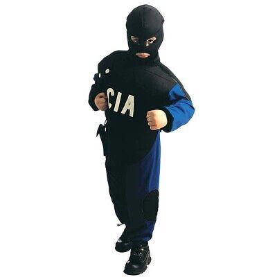 CIA KINDER POLIZISTEN KOSTÜM Spezialeinheit SEK Polizei Kugelsichere - Polizei Kostüm Männlich