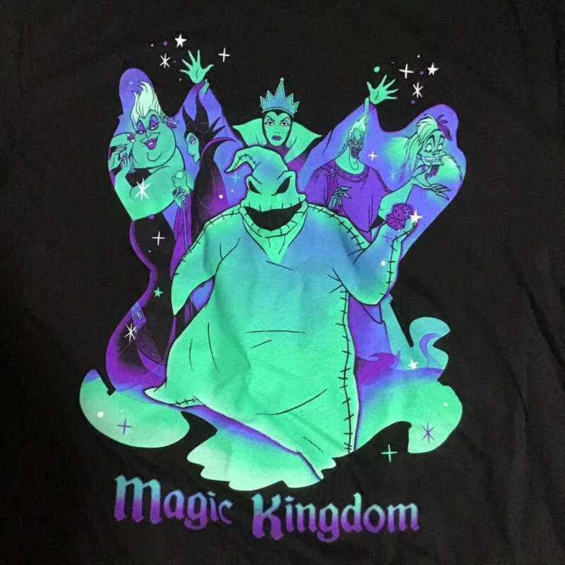 DISNEY MAGIC KINGDOM VILLAINS AFTER HOURS 2020 OOGIE BOOGIE GLOW T-SHIRT L