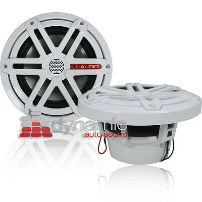 """JL AUDIO MX650-CCX-SG-WH 6.5"""" Marine Boat Coaxial Speakers White 2-Way 240W New"""