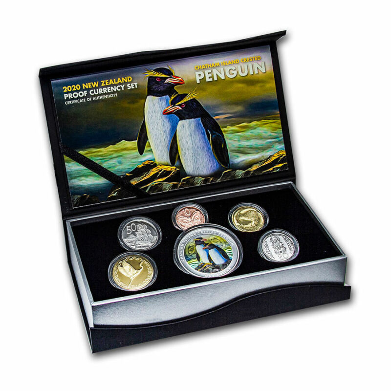 2020 New Zealand 6-Coin 1 oz Silver Currency Proof Set - SKU#212413
