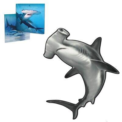 2020 1 oz Silver Great Hammerhead Shark Solomon Islands $2 Coin .9999 Fine (In