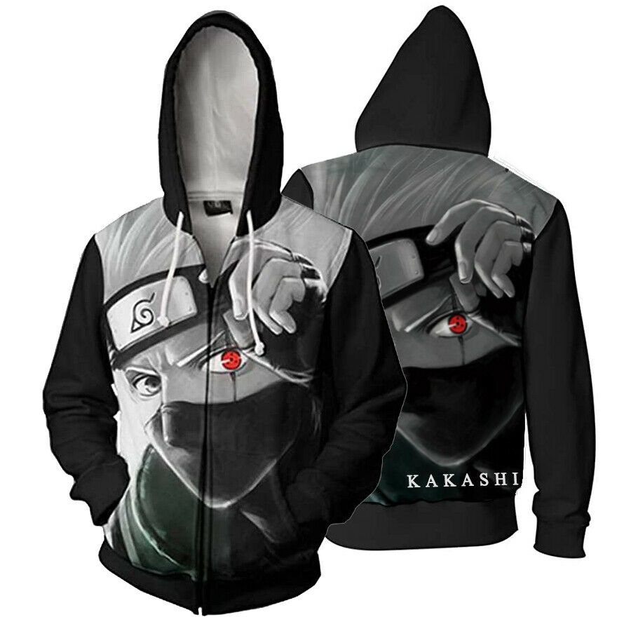 Naruto Cosplay Costumes Kakashi Hatake Cosplay Blue Hoodies Unisex Daily Jacket