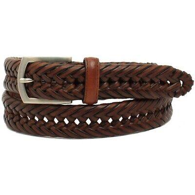 Nocona Hired Hand Men's Brown Braided Leather Belt N2630602 Brown Braided Belt