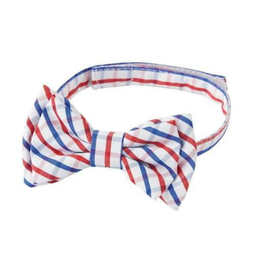 Mud Pie Boys Red and Blue Plaid Bow Tie One Size