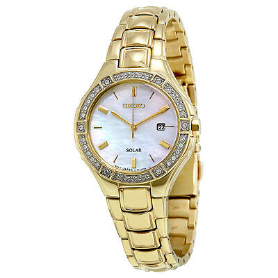 Seiko Core Solar Mother of Pearl Dial Ladies Watch SUT284