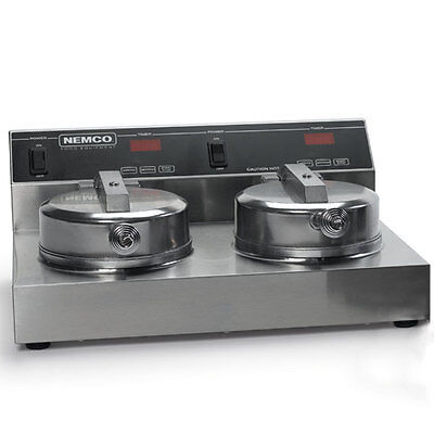 "Nemco 7030A-2 Waffle Cone Baker Iron W/ Two 7"" Diameter Fixed Grids"