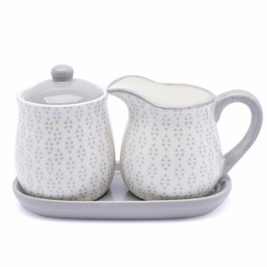 Set Milch und Zucker Zuckerdose + Milchkännchen aus Keramik 265ml Küche Geschenk