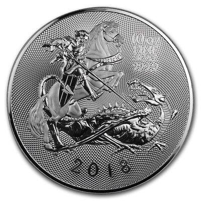 10 oz Großbritannien 999 Silber Silbermünze Valiant / Tapferkeit 2018 St. George segunda mano  Embacar hacia Spain