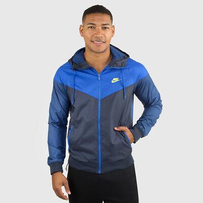 Rare Nike Windrunner Jacket Windbreaker Nylon Glanz Sexy Blue Navy Small