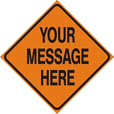 YOUR CUSTOM MESSAGE -  Logging Road Sign - Logging Operation Work Zone Signs