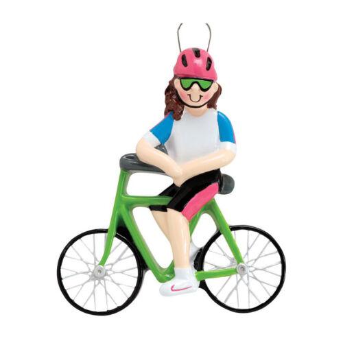 """Girl / Boy Riding Bicycle, Bike Rider, Cyclist"" Christmas Tree Ornaments"