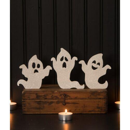 Set/3 Bethany Lowe White Ghost Silhouettes Retro Vntg Halloween Figurine Decor