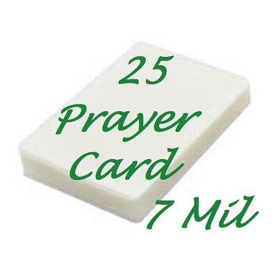 Laminating Pouches Sheets Prayer Card 25 Pk 7 Mil 2-34 X 4-12