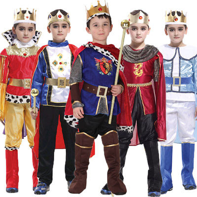Halloween The King Costume Prince Costumes for Boy Fantasia Infantil Outfit Set (King Costume)