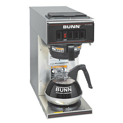 Bunn 13300.0001 Coffee Maker With 1 Warmer Low Profile Pourover Ss Decor