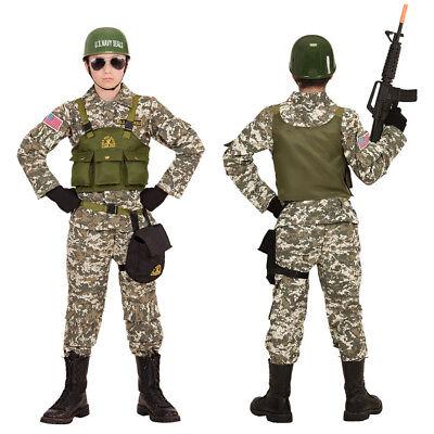 Armee Kinder Kostüme (NAVY SEAL KINDER KOSTÜM HELM US Army Armee Spezial Einheit Kommando 152/158 9684)