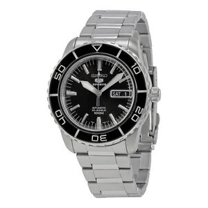 Seiko 5 Sports SNZH55 Automatic Black Stainless Steel Men's Watch SNZH55K1