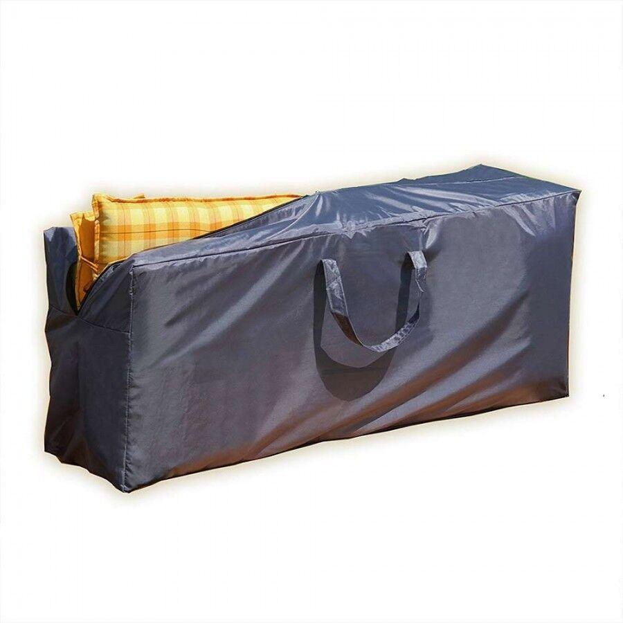 Aufbewahrung Tasche grau für Gartenmöbelauflagen Polster Sitzkissen Hochlehner