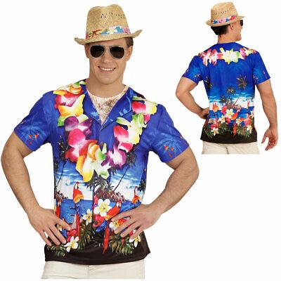 HERREN 3D HAWAIIANER SHIRT Südsee Hawaii Kostüm Party Bedrucktes Fotodruck Hemd