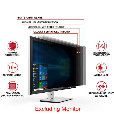 Universal Privacy Anti Glare Monitor - 20 inch Widescreen Computer Privacy Screen Filter Laptop LCD Monitor Anti-Glare