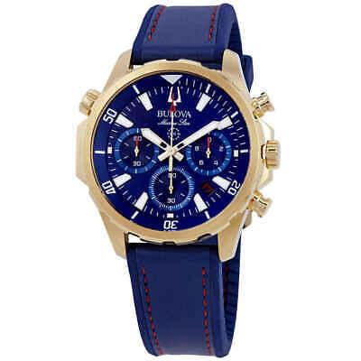 Bulova Marine Star Chronograph Blue Dial Men's Watch 97B168