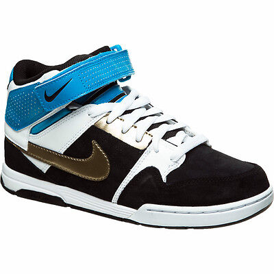 Nike Air Mogan Mid 2 skate shoes black 7.5 DEFECT
