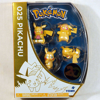 Pokemon Figurenset 025 Pikachu Goldedtion 20 Jahre Pokemon Neu OVP