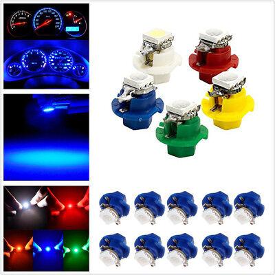 50 X T5 B8.4D 5050 1SMD LED 5-Color Car Indicator Gauge Dashboard Dash Side Lamp