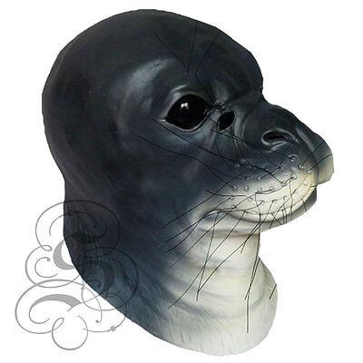 Latex Überkopf Realistisch Tier Aquatic Dichtung Kostüm Requisiten Cosplay Party