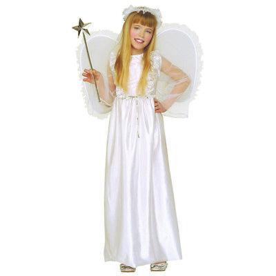KINDER ENGEL KOSTÜM + Flügel & Heiligenschein Weihnachten Christkind Kleid 3345