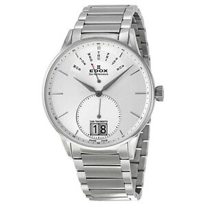 Edox Les Vauberts Silver Dial Stainless Steel Mens Watch 34006-3A-AIN