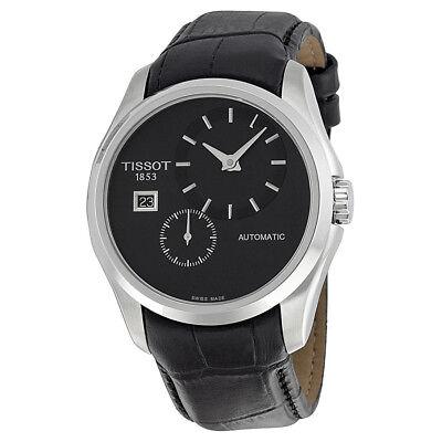 Tissot Couturier Automatic Black Dial Black Leather Mens Watch T0354281605100