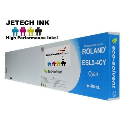 Roland Esl3-4 Eco-solvent Max Compatible 440ml Ink Cartridge - Cyan
