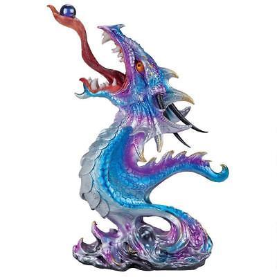 Mystical Iridescent Shimmering Hydra Dragon Fantasy Sculpture