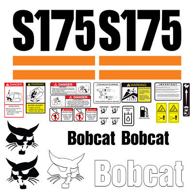 Bobcat S175 Skid Steer Set Vinyl Decal Sticker - 25 Pc - Free Shipping