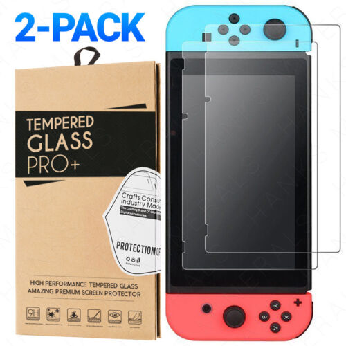 2-Pack Tempered Glass For Nintendo Switch Screen Protector Premium Clear