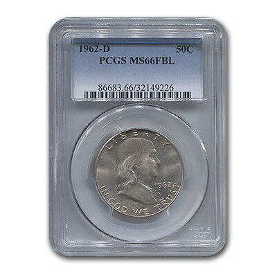 Click now to see the BUY IT NOW Price! 1962 D FRANKLIN HALF DOLLAR MS 66 PCGS FBL   SKU 117534