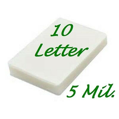 Letter Laminating Laminator Pouches Sheets 10 Pk 5 Mil 9 X 11.50 Scotch Quality
