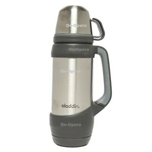 New Aladdin Challenger 1L Stainless Steel Vaccum Flask Hot & Cold 28 Hrs