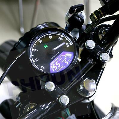 Motorcycle Chopper Cafe Racer Signal Speedometer Tachometer Gauge 12000RPM US