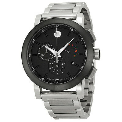 Movado Museum Chronograph Stainless Steel Mens Watch