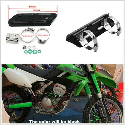 190MM CARBON FIBER STYLE MOTORCYCLE ATVS MID EXHAUST HEAT SHIELD PROTE
