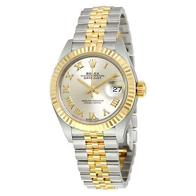 Rolex Lady Datejust Silver Dial Steel and 18K Yellow Gold Jubilee Watch