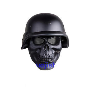 New-Tactical-Military-Skeleton-Full-Face-M88-helmet-black-for-hunting-airsoft