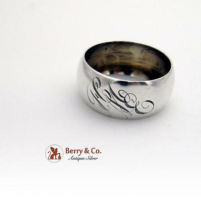 Rounded Napkin Ring Sterling Silver Watrous 1940