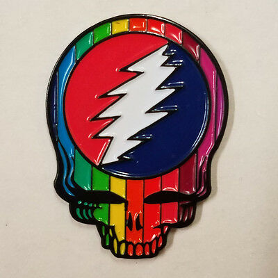GRATEFUL DEAD - RAINBOW SKULL - HAT PIN - BRAND NEW - BAND HP083