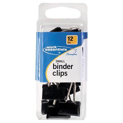 Acco Small Binder Clip Scratch Resistant 12pk Black 71747